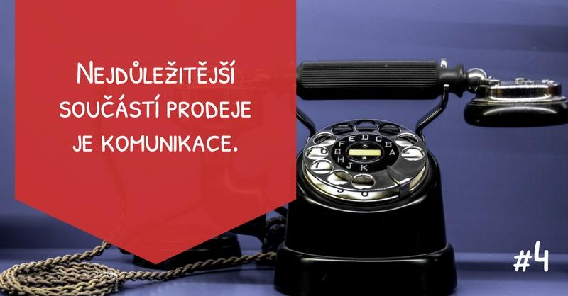 Nejdůležitější součástí prodeje je komunikace