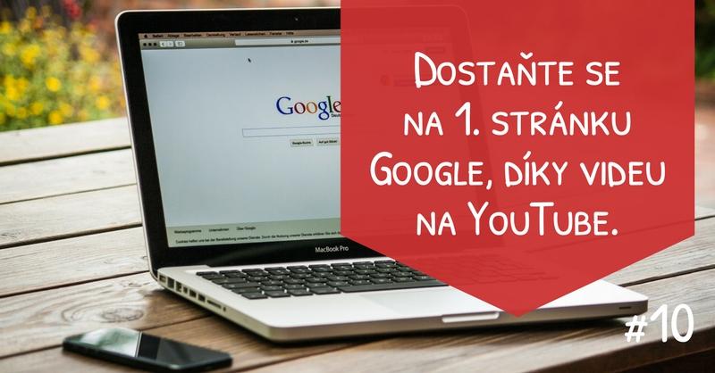 Dostaňte se na 1. stránku Google, díky videu na YouTube.